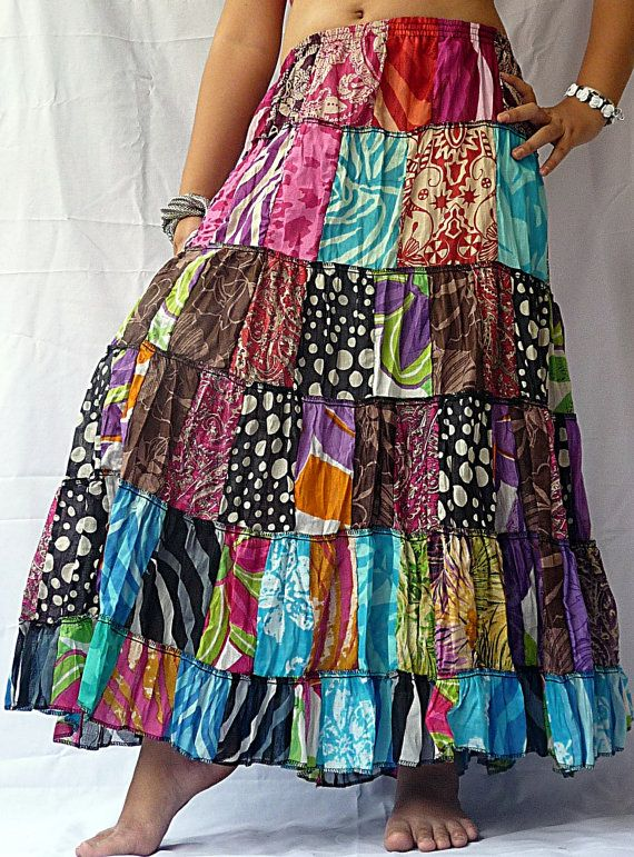 17 Best Images About Patchwork Skirts On Pinterest