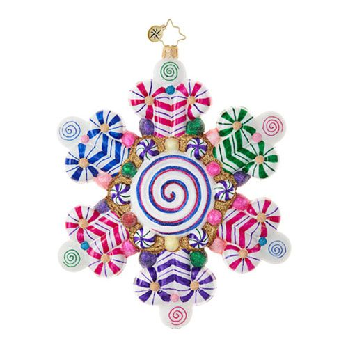 Christopher Radko Ornaments | Radko Candy & Sweets Candy Shop Snowflake 1018803