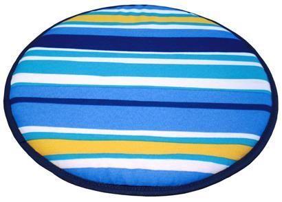#cojin #redondo para #silla de rayas. https://www.catayhome.es/categoria/cojines-de-sillas/