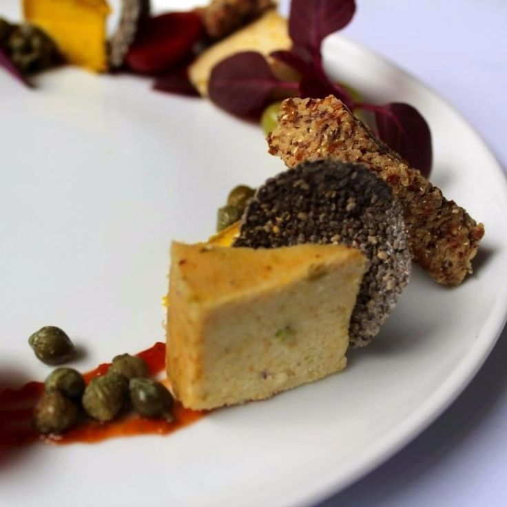 One of my favourite dishes which has been part of my Plantlab Culinary coursework is definitely the Nut Cheese plate.  Completely with chia crisps and a tomato chutney.  Can't wait to find the time to experiment with recipes and make them my own.