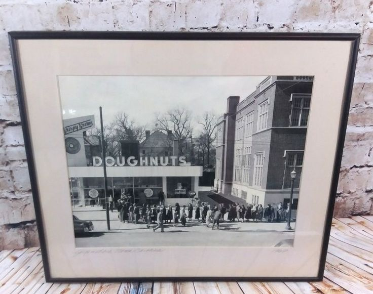 VTG Krispy Kreme Doughnuts Grand Opening Photo Greensboro North Carolina 1967 #KrispyKreme
