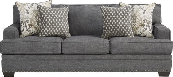 Belhaven Graphite 5 Pc Living Room In 2020 Rooms To Go Couches