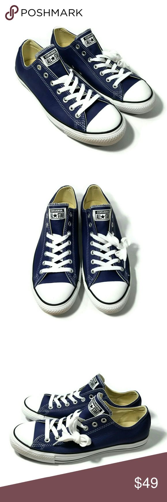 New Leather Converse All Star New without box. Unisex. Size 10 for mens. Size 12 for womens. Leather. ♣️ Converse Shoes Sneakers