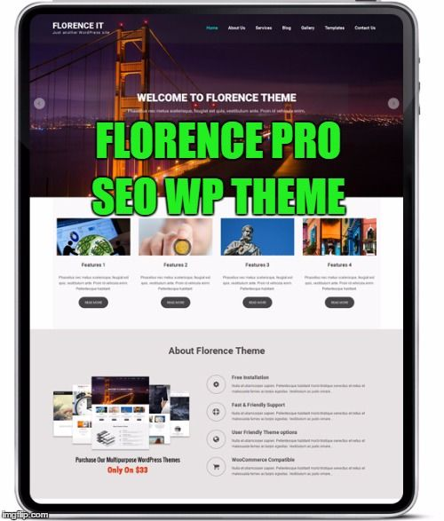 #FlorencePro is the best #SEOWPtheme template which is recommended by thousands of online marketing professionals. This theme is an elegant, classy, beautiful & responsive #WordPresstheme.  https://goo.gl/zYRRMV
