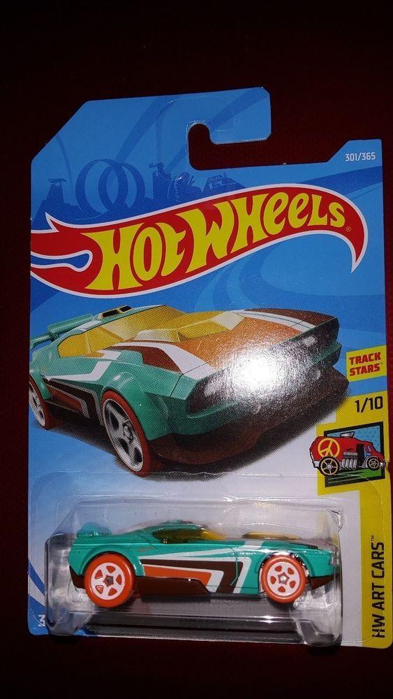 Hot Wheels Fast Fish HW Art Cars #1//10 Blue Diecast Track Stars New Release