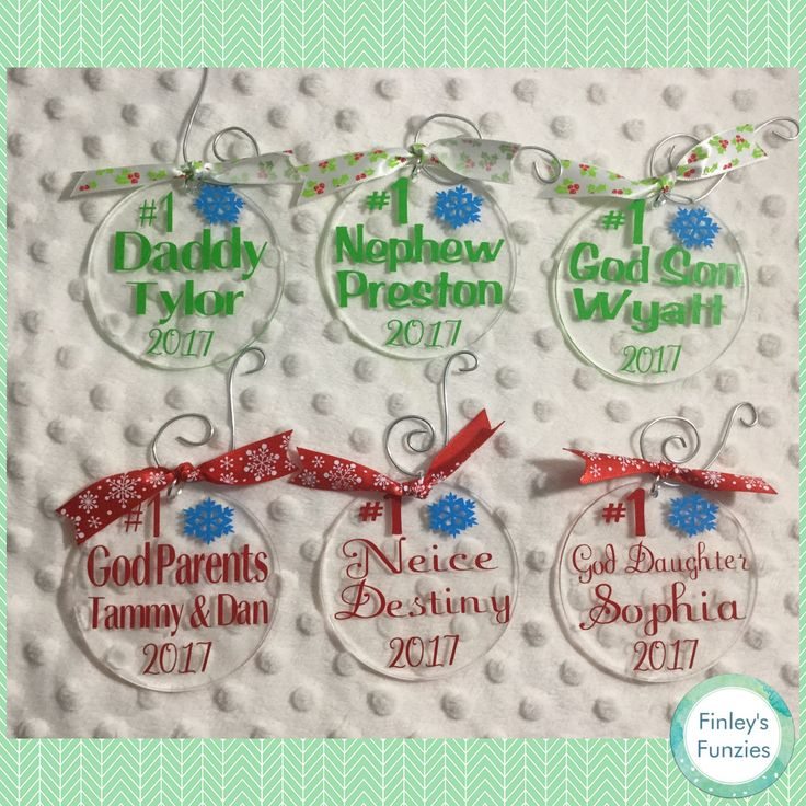 Number One customized Christmas Ornaments by FinleysFunzies on Etsy