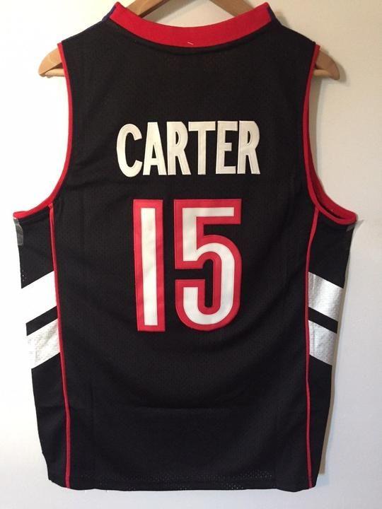 Men 15 Vince Carter Jersey Black Toronto Raptors Swingman Jersey Throwback 8c89cad45
