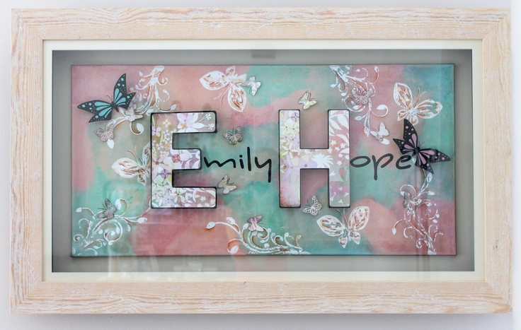 Hand crafted 3D letter canvas - Emmily Kalyvas