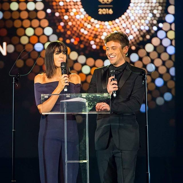 Claudia Winkleman and Tom Daley hosting the Team GB Ball.  #TomDaley #TeamGB #ClaudiaWinkleman #TeamGBBall