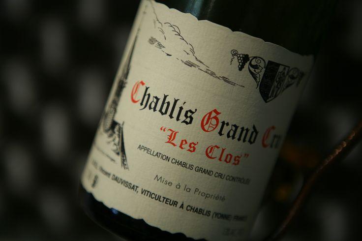 """Chablis Grand Cru """"Les Clos"""" 2012 Domaine Vincent Dauvissat. Vin blanc de Bourgogne #wine #winelover #chablis #grandcru"""