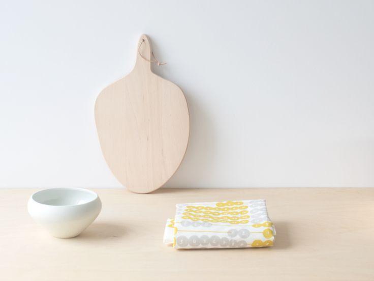 Kauniste CALENDAR 2015 Kitchen Towel by Antti Kalevi | nämä shop ( cutting  board and ceramic by Caroline Gomez : www.carolinegomez.com