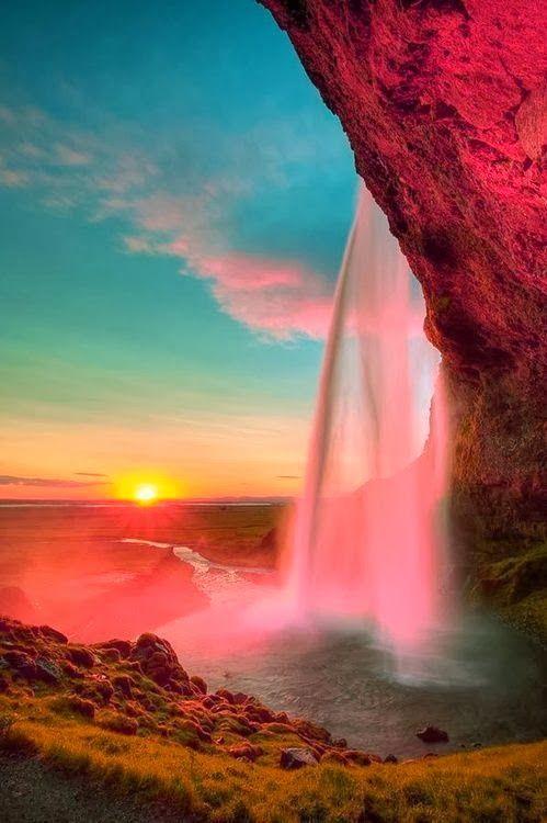 Waterfall Sunset,
