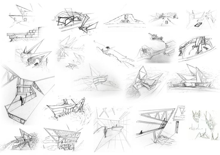 vitra fire station concept sketches