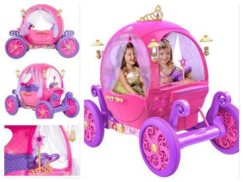 Electric-Cars-For-Kids-To-Ride-On-Disney-Princess-Carriage-Pink-Power-Wheels-Toy
