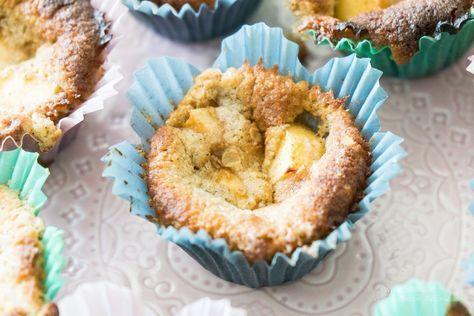 Kladdiga äppelmuffins (glutenfria, lågkolhydrat)