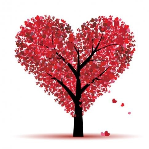 heart-filled tree  ~  This reminds me of Valentine Pines, my childhood home.  :)