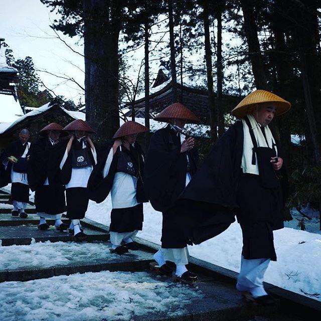 kongobuji #高野山 #傘 #修行 #托鉢 #金剛峯寺 #koyasan #kongobuji #snow #monk  2017/01/27 17:22:07