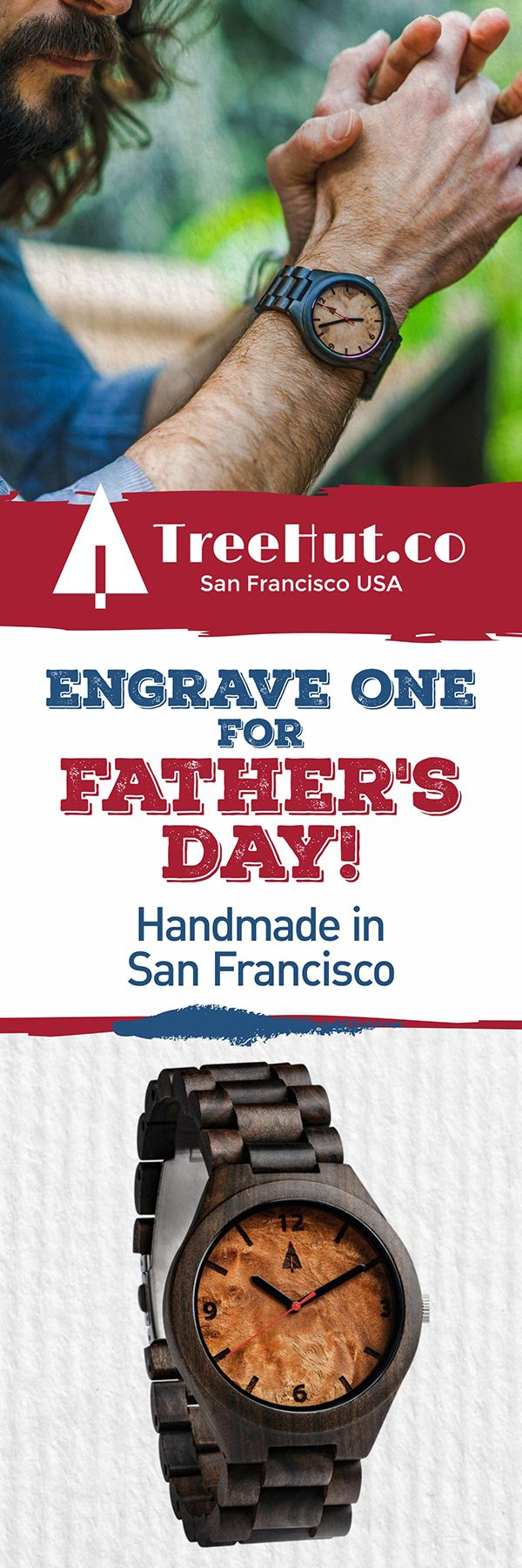 For Father's Day! Handcrafted in San Francisco. Nature-inspired designs that make the perfect #gift for your special ones! See the full collection at Treehut Co.