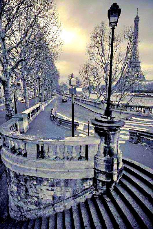 Paris, France / Eiffel tower / Winter