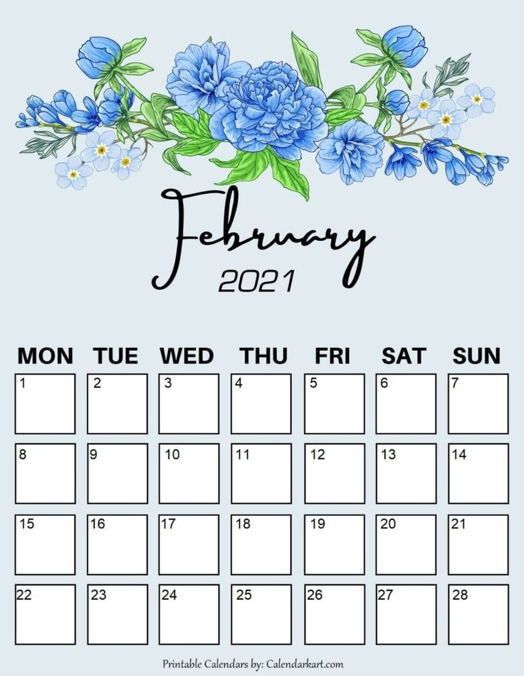Cute 2021 Printable Blank Calendars / Free Cute Printable ...