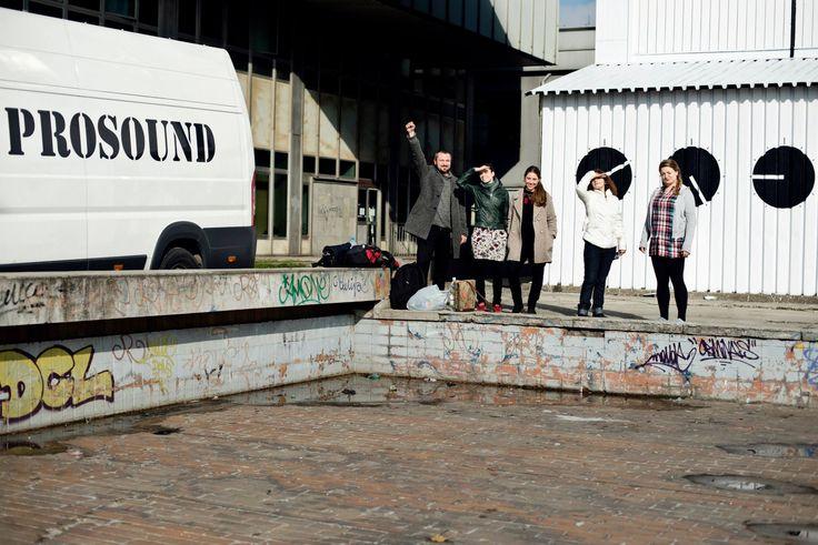 #Audiomural NCK, #Mural #Kraków – #NowaHuta, Październik 2013, projekt: #AleksandraToborowicz, koordynacja: #MichalPalasz foto: #EdytaDufaj