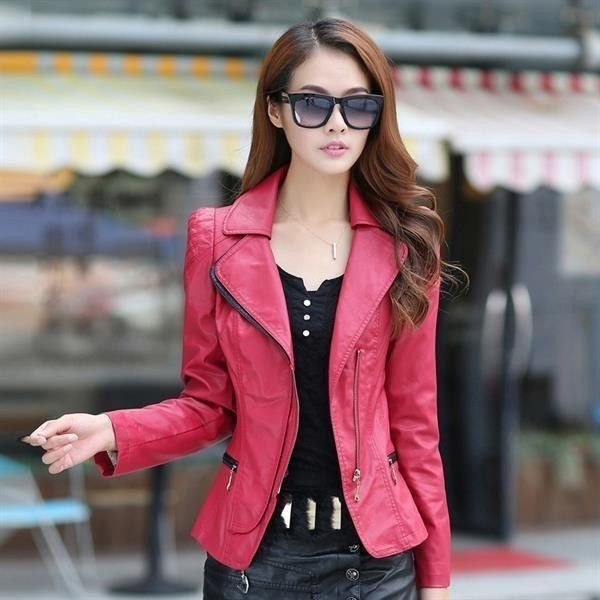 80 Most Stylish Leather Jackets for Women in 2017  - You cannot say that your wardrobe is complete if you do not have a leather jacket. Leather jackets are highly essential for women in different seasons... -  women-leather-jackets-2017-75 .