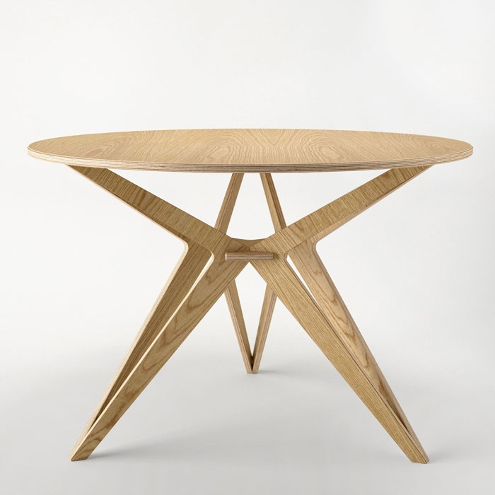 oak plywood table