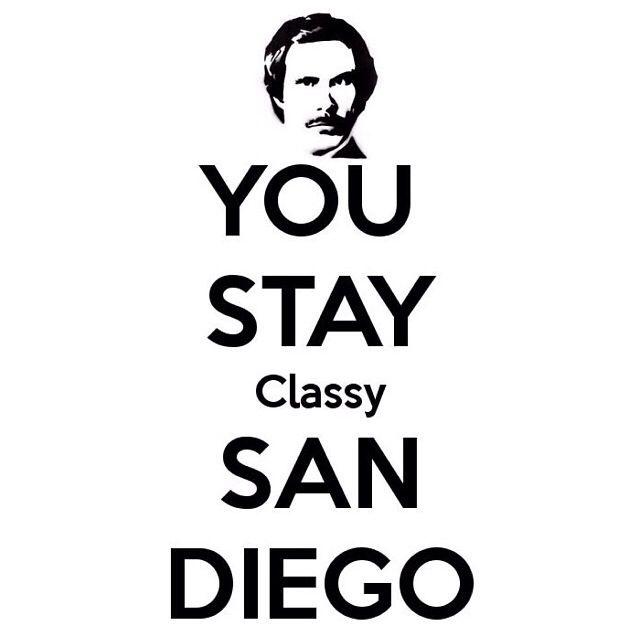 You stay classy San Diego. :)