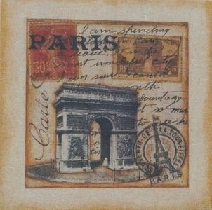 Stamped Old City of Paris Hession Picture - $12.00. Available from http://www.wallartroad.com/small-art-pieces-under-15-00/ #wall #art #road #canvas