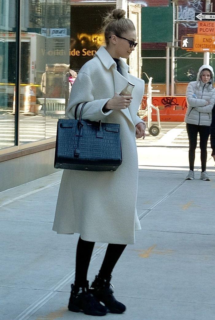 Gigi Hadid wearing 'Furikaze' sneakers