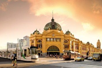 Flinders Street Station in the heart of Melbourne, Australia...my favorite building here.
