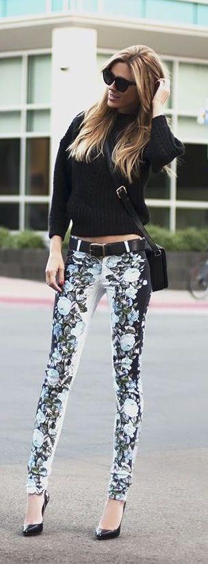 #summer #fashion / flower print pants