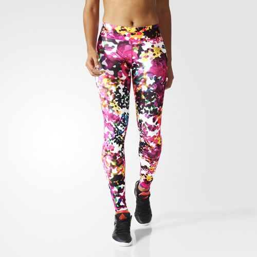 Ultimate Fit Flowers Long Tights - Multicolour