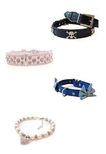 Hundeaccessoires - Hundeaccessoires - Warum ein schnödes Leder-Halsband kaufen, wenn's auch ein bisschen mehr sein darf? Für Dogge Spike gibt's ein Piraten-Halsband, Chihuahua-Dame Pinkie nimmt das rosafarbene Glitzer-Halsband...