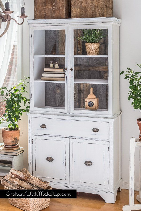 As a Furniture Artist, I am always looking for different ways to transform my pieces.  For this project  I wanted to take a traditional looking china cabinet an…