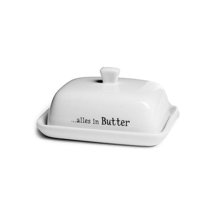 2tlg Butterdose Porzellan ca L:10 x B:7,5 x H:4,5 cm