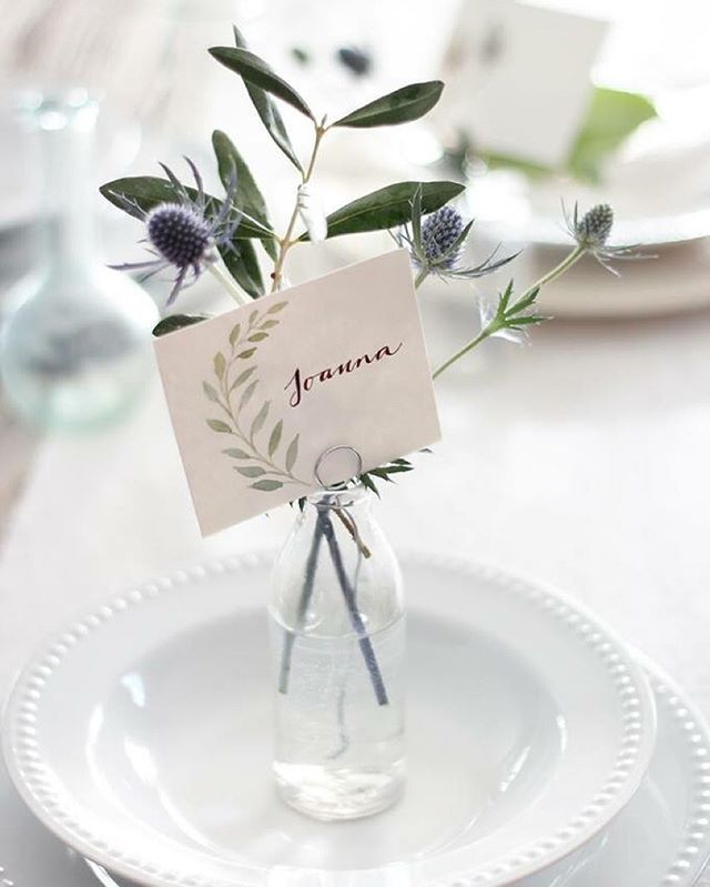 Up on the blog this morning: personalize your tablescape by making your own place cards! Read at magnoliahomes.net/blog
