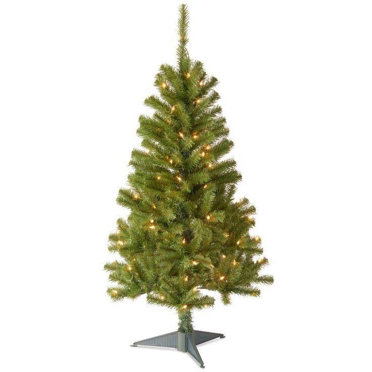 Cute  ft Canadian Grande Fir Artificial Christmas Tree with Clear Lights Greens