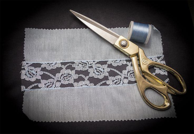 Школа шитья ARMALINI.   Как сделать кружевную вставку на тонких, деликатных тканях