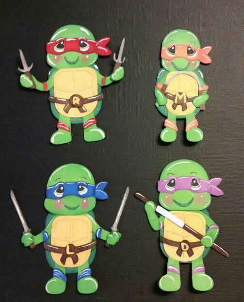 Darling little ninja turtles.
