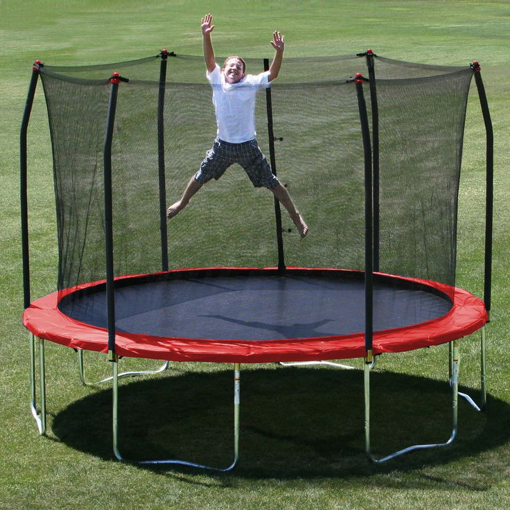 Features:  Shape: -Round.  Frame Color: -Gray.  Jump Surface Color: -Black.  Frame Material: -Steel.  Jump Surface Material: -Polypropylene.  Weight Limit: -200 Pounds.  -Includes trampoline and safet