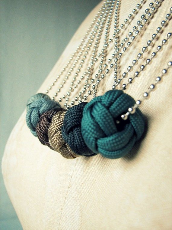 These gorgeous knots are showing up everywhere!  As necklace pendants?!  Love it.