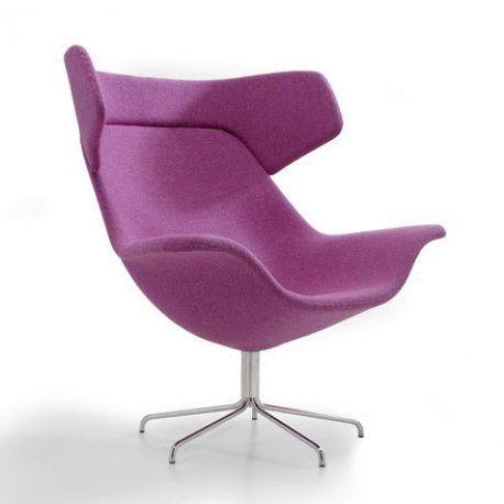 Lounge Stuhl Armlehnen Kuhfell Polsterung italy dream design Oyster Kollektion