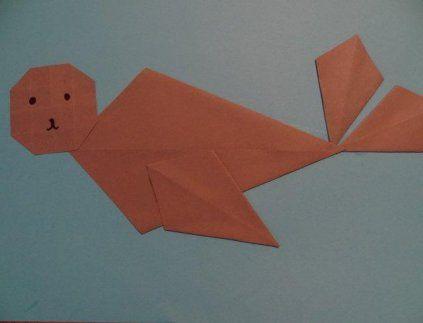 Knutselen Zeehond vouwen