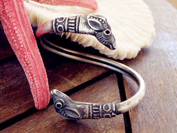 Greek bracelet snake bracelet. sterling silver by CarmelaRosa