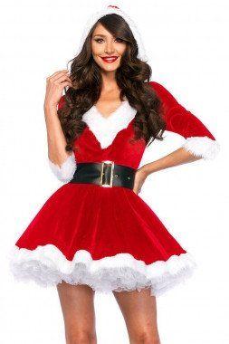 Santa's Helper Velvet A-line Dress