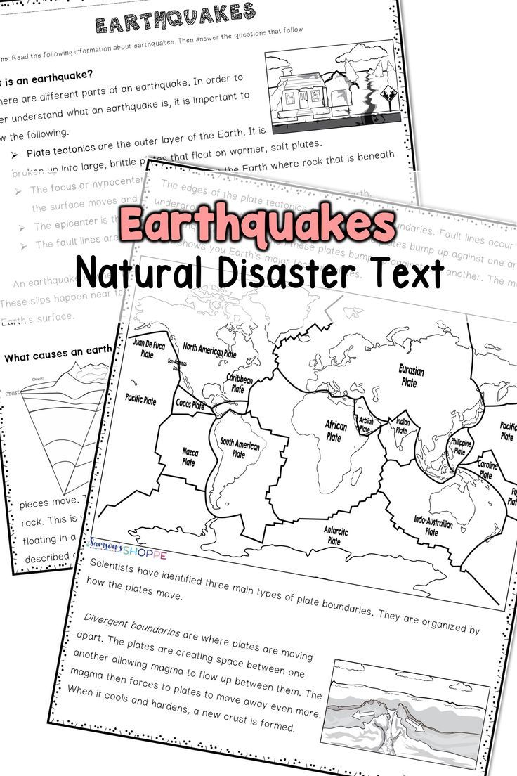 Earthquake Reading Activity Middle School Middle School Science Classroom Reading Activities