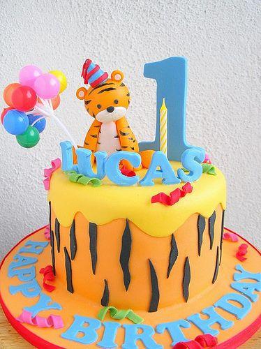 Lucas's baby tiger cake