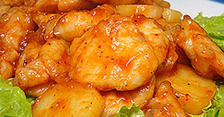 油で揚げないのでヘルシーですღ でも…やわらか&ジューシーで美味しい鶏チリですღ むね肉なのにパサパサしませんよ^^