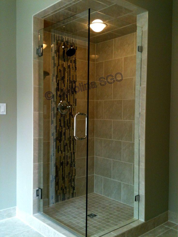 17 best images about frameless corner shower door on pinterest light switches frameless - Corner shower doors ...